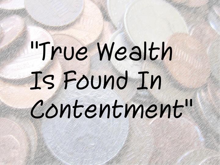 True Wealth Quote