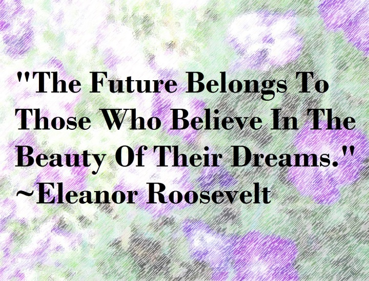 Purple Posies Quote